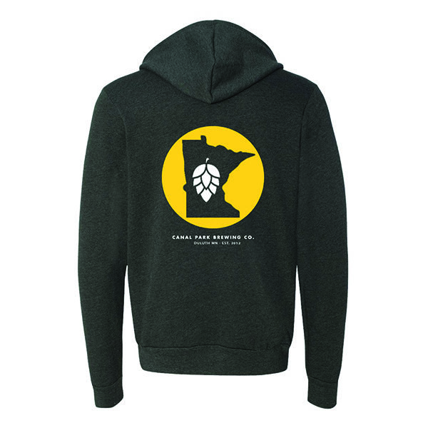 Dark Gray Graphic Hoodie Zip-up CPB